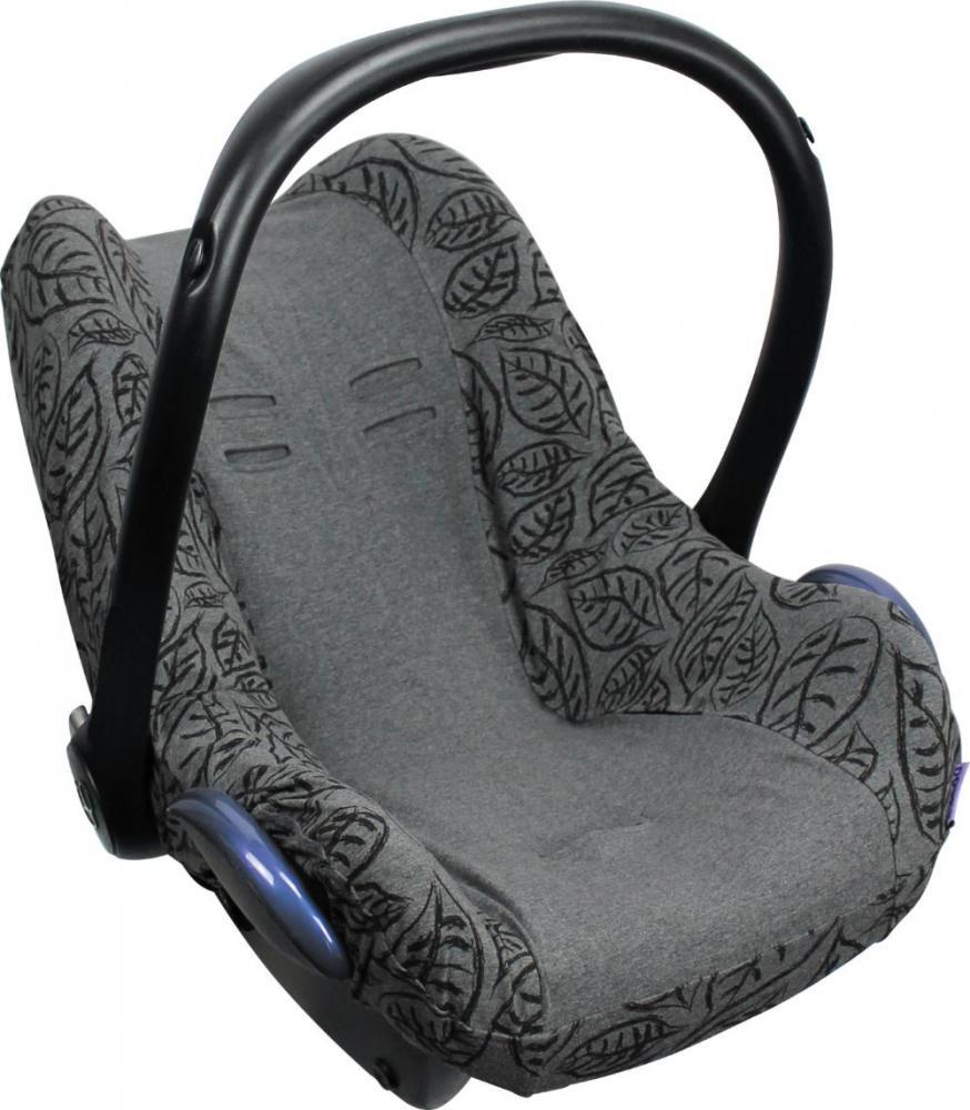 XPLORYS Чехол в автокресло DOOKY Seat cover 0+ цв. Grey Leaves