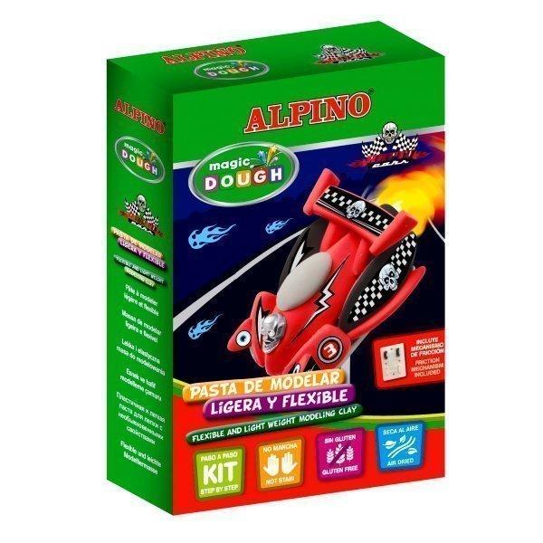 "ALPINO набор пасты для лепки ""Волшебное тесто"" (Автогонки), 3 * 14 гр = 42 гр, 3 цвета DP000193"
