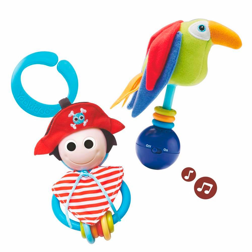 Купить Первые игрушки, погремушки, YOOKIDOO набор игровой Пират и его попугай