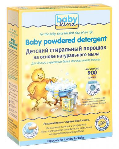 Baby Line Детский стиральный порошок на основе натурального мыла, 900г (BABY LINE)