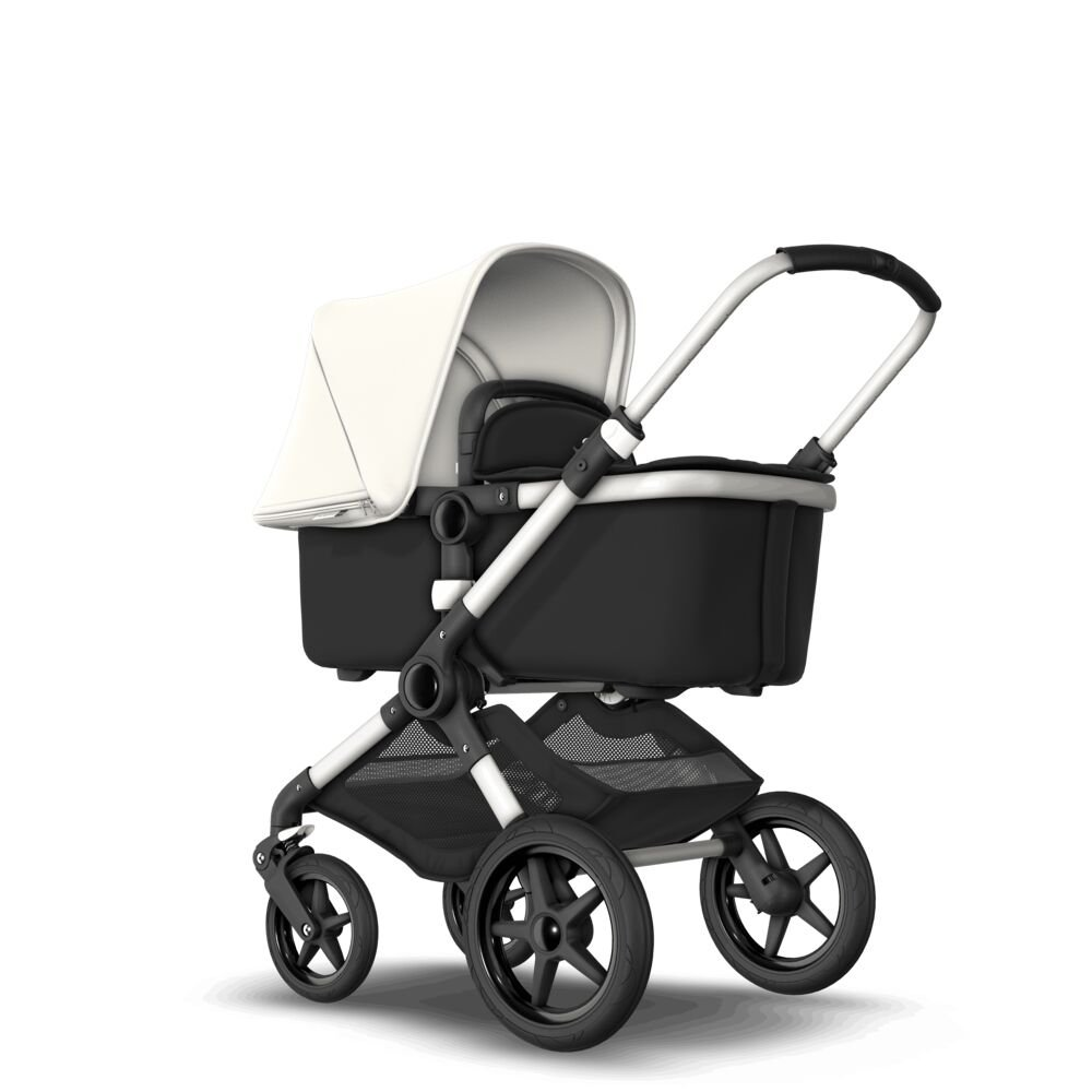 Bugaboo FOX Коляска 2 в 1 ALU/ BLACK/ FRESH WHITE complete