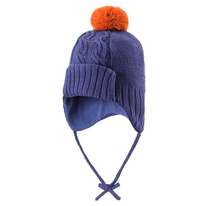 Купить Шапки, варежки, перчатки, REIMA шапка шерстяная Blixt синяя р.46