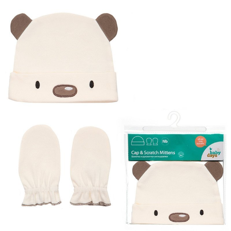 Шапки, варежки, перчатки HAPPY BABY DAYS одежда для новорождённых