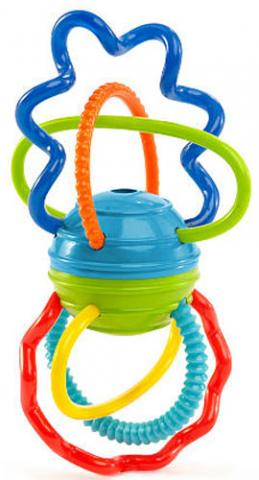 Погремушки и прорезыватели O-BALL погремушки amico развивающая игрушка гантелька ферма