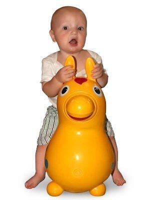 """GYMNIC мяч-лошадка """"Роди"""" желтый"""