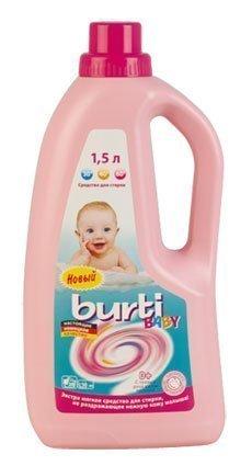 Burti Baby Жидкое средство для стирки детского белья 1,5л (BURTI BABY)
