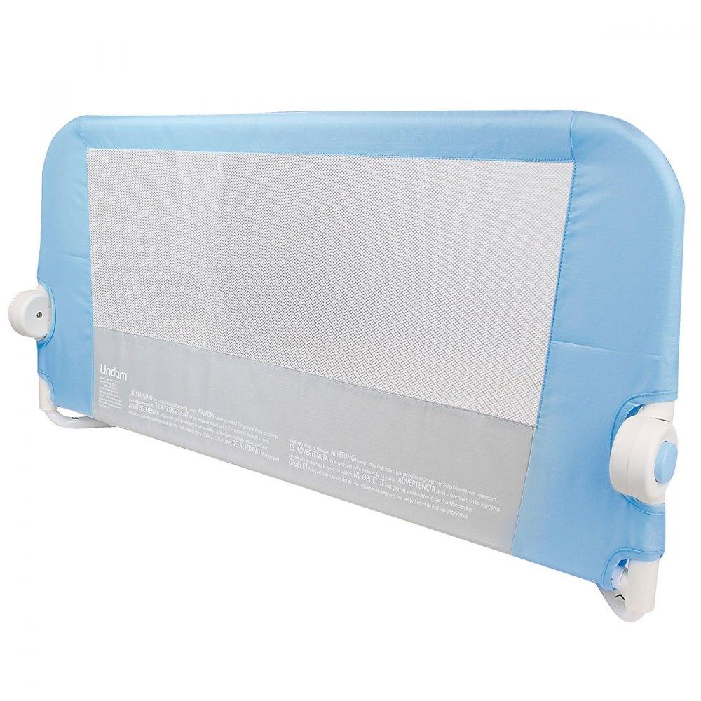 LINDAM бортик защитный для кровати на метал. каркасе с тканью 95 см Голубой lindamбортик
