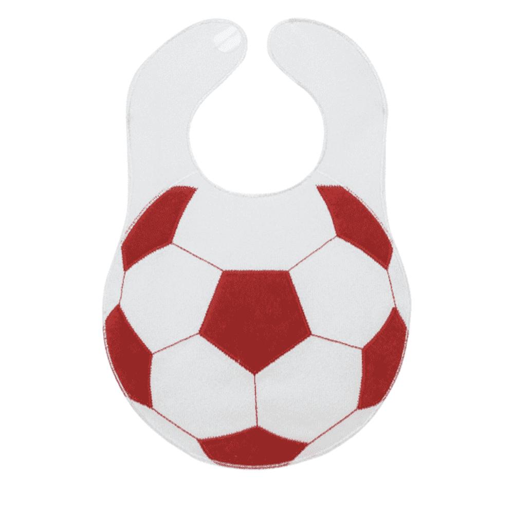 SEVI BABY нагрудник на липучке Футбольный мяч, бордовый