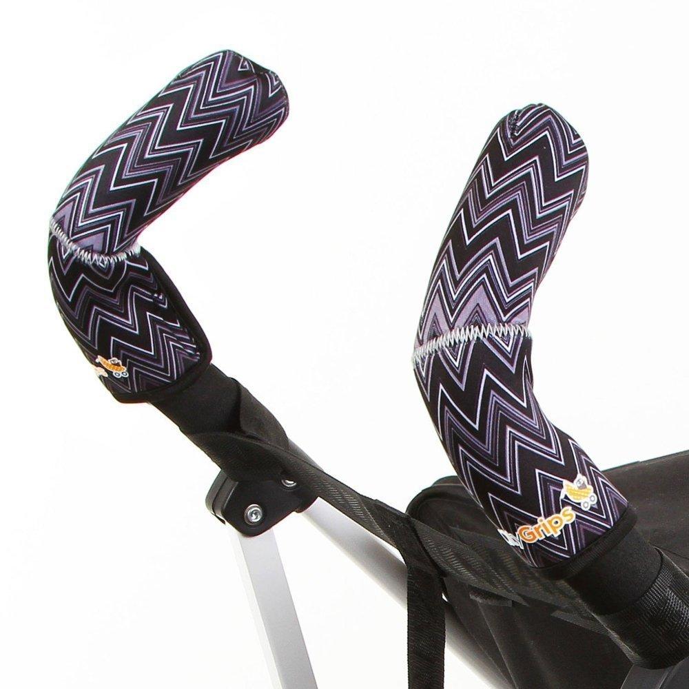 CityGrips Чехлы на ручки для коляски-трости ZigZag Black