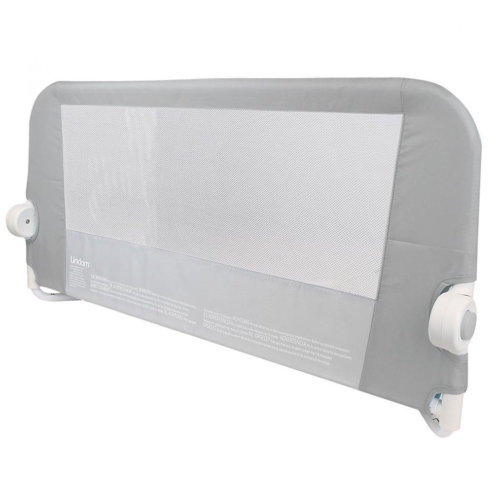 LINDAM бортик защитный для кровати на метал. каркасе с тканью 95 см серый lindamбортик