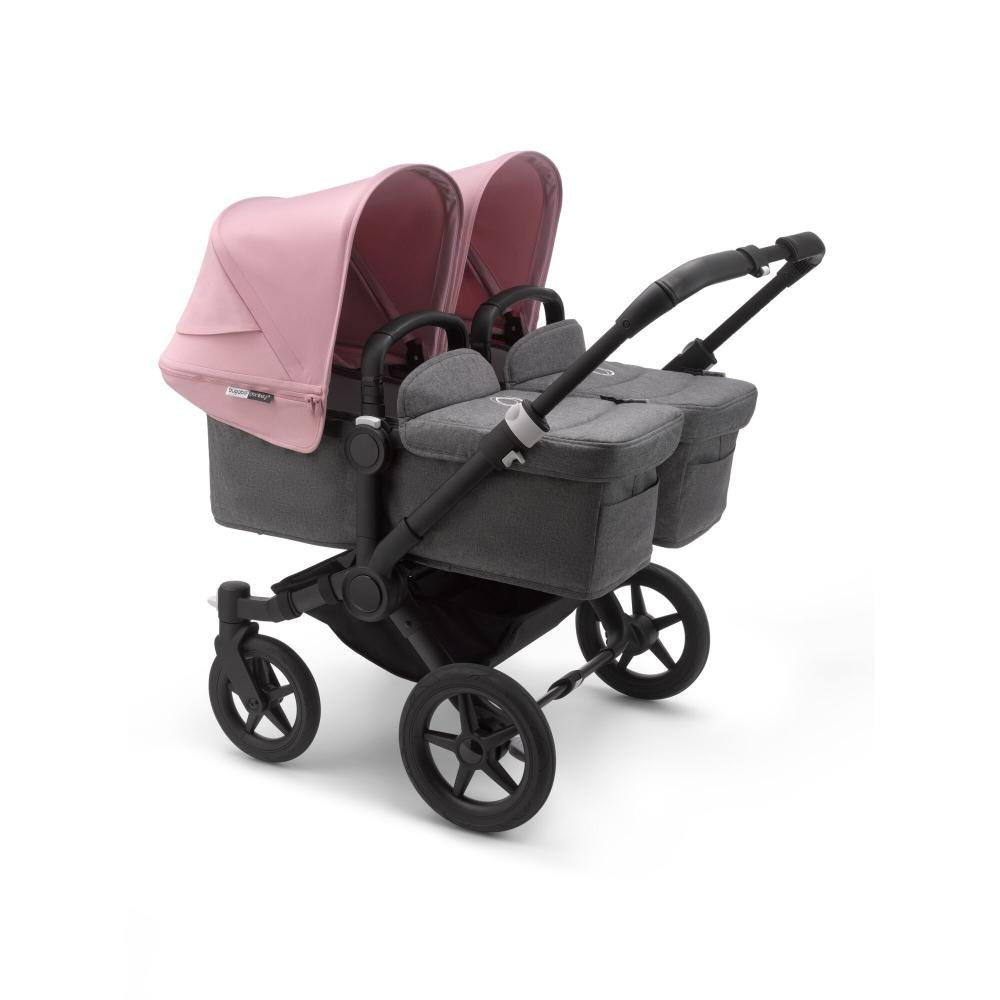 Bugaboo Donkey3 коляска 2 в 1 для двойни Twin Black/Grey Melange/Soft Pink