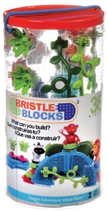 "BATTAT Bristle Blocks конструктор ""Путешествие в джунглях"" в тубе от olant-shop.ru"