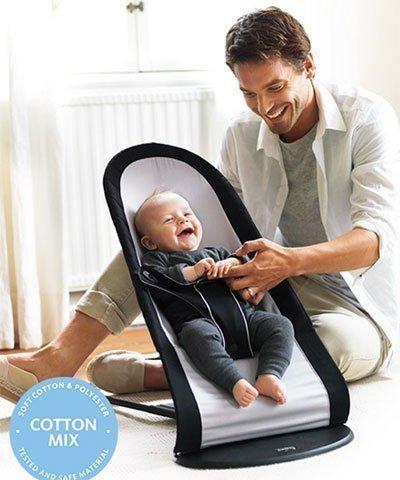 91d77d56bdd Babybjorn кресло-шезлонг BALANCE SOFT AIR черный с серым - купить в ...