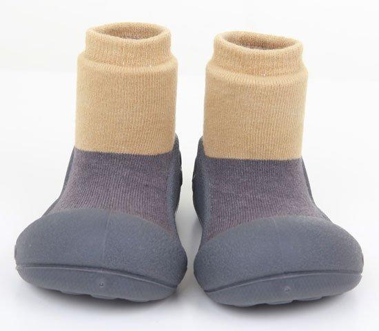 ATTIPAS обувь Natural Herb серый с бежевым, р. S (3-6мес.)