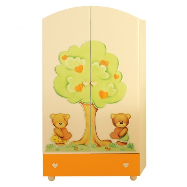 Baby expert шкаф cuore крем/оранжевый