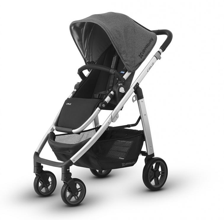 Купить Прогулочные коляски, UPPABABY Коляска прогулочная Cruz 2018 JORDAN (black/grey malange) графито-серый меланж