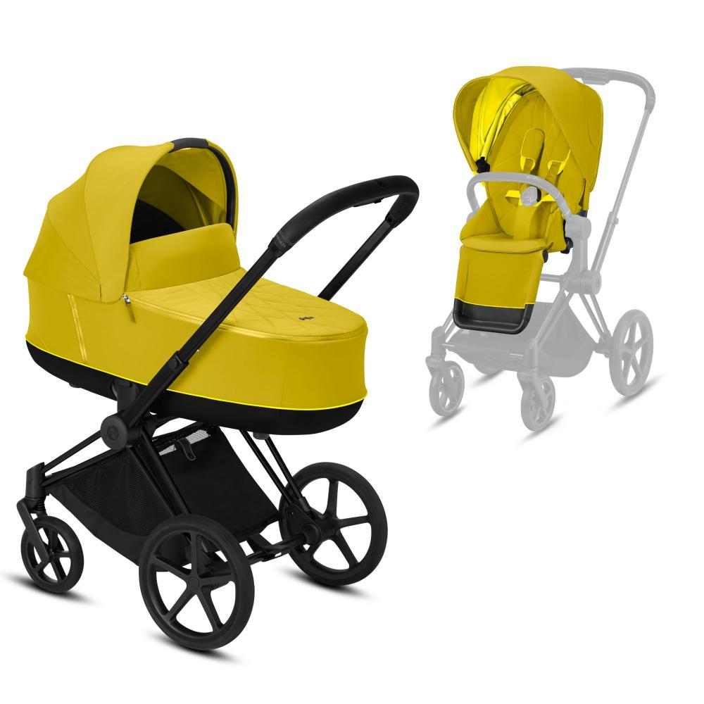 Cybex Priam III коляска 2 в 1 Matt Black / Mustard Yellow