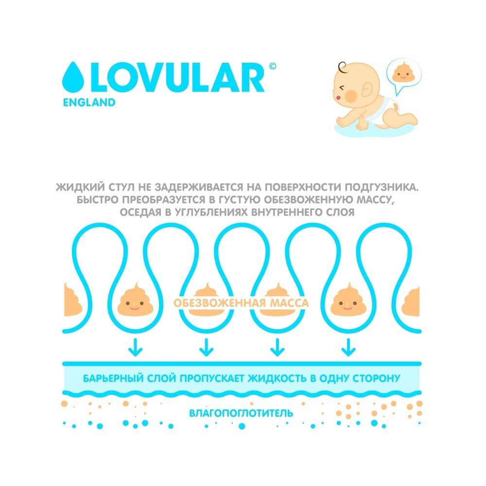 LOVULAR HOT WIND подгузники детские L(9-13 кг), 54 шт.