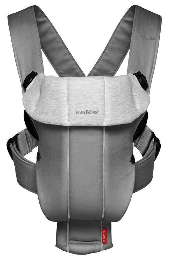 BABYBJORN рюкзак для переноски ребенка Original Jersey темно-серый/серый