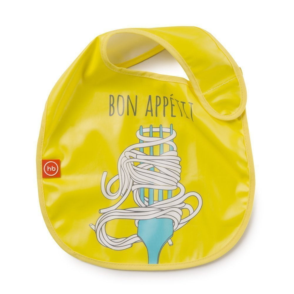 "HAPPY BABY Нагрудник на липучке ""WATERPROOF BABY BIB"" yellow"