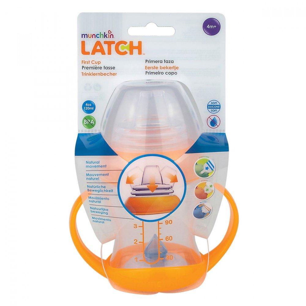 LATCH munchkin обучающий поильник-чашка с ручками 120мл. 4+ (MUNCHKIN)