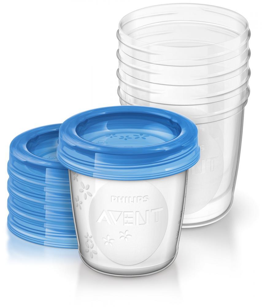 PHILIPS AVENT контейнеры с крышками для хранения питания 5 шт, 180 мл
