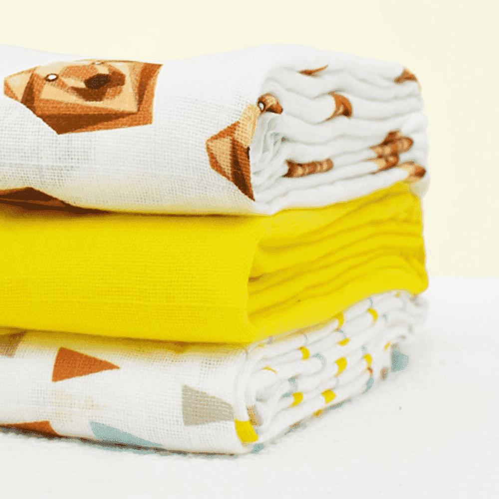 Купить Многоразовые подгузники, BAMBINO MIO хлопковые пеленки муслин 70*70 ГРИЗЛИ 3шт