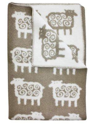 KLIPPAN одеяло 90х130 эко-шерсть Барашки беж от olant-shop.ru