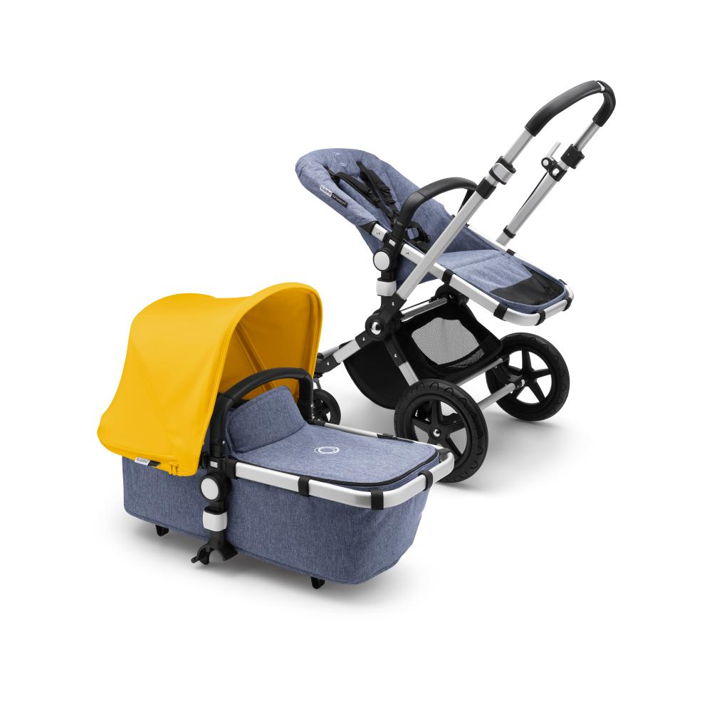 Bugaboo Коляска 2 в 1 Cameleon3 Plus ALU/BLUE MELANGE/ SUNRISE YELLOW