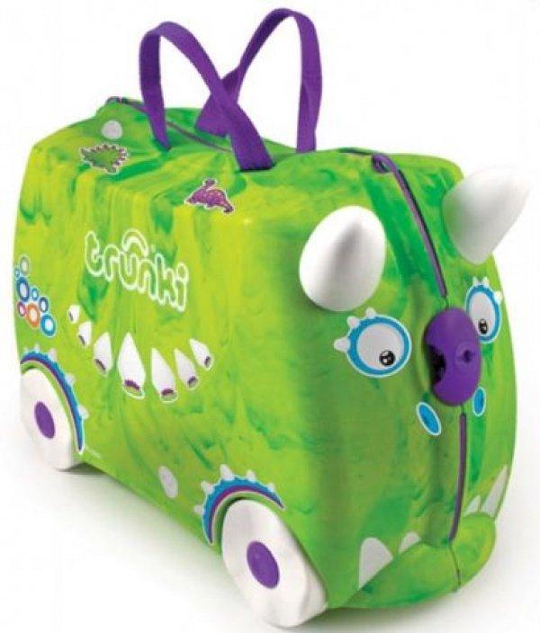 TRUNKI чемодан на колесиках Динозавр зеленый