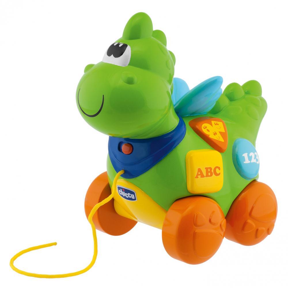 Купить со скидкой Chicco говорящий дракон на колесиках  рус англ  9м