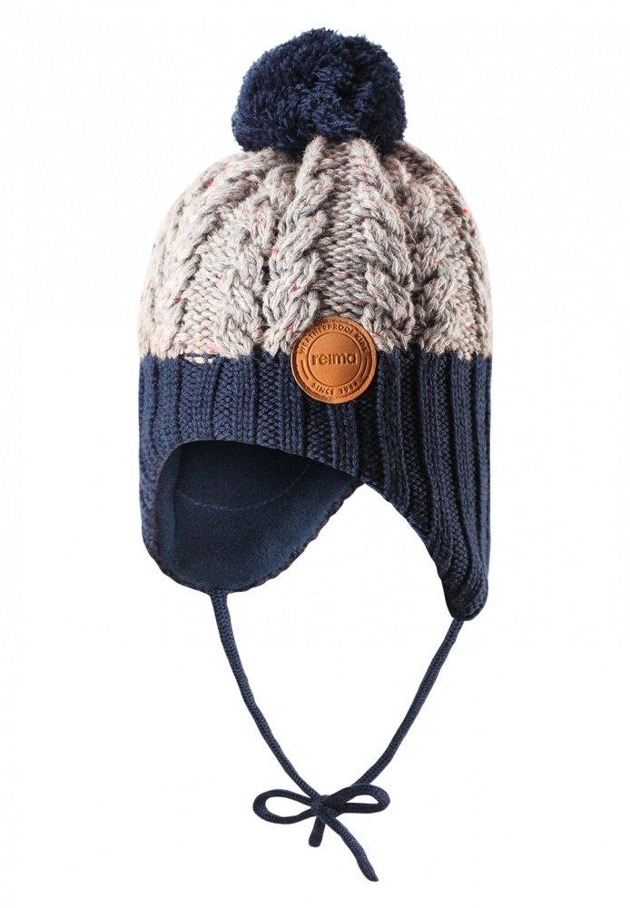 Купить Reima шапка шерстяная nahanni серая с синим р.52