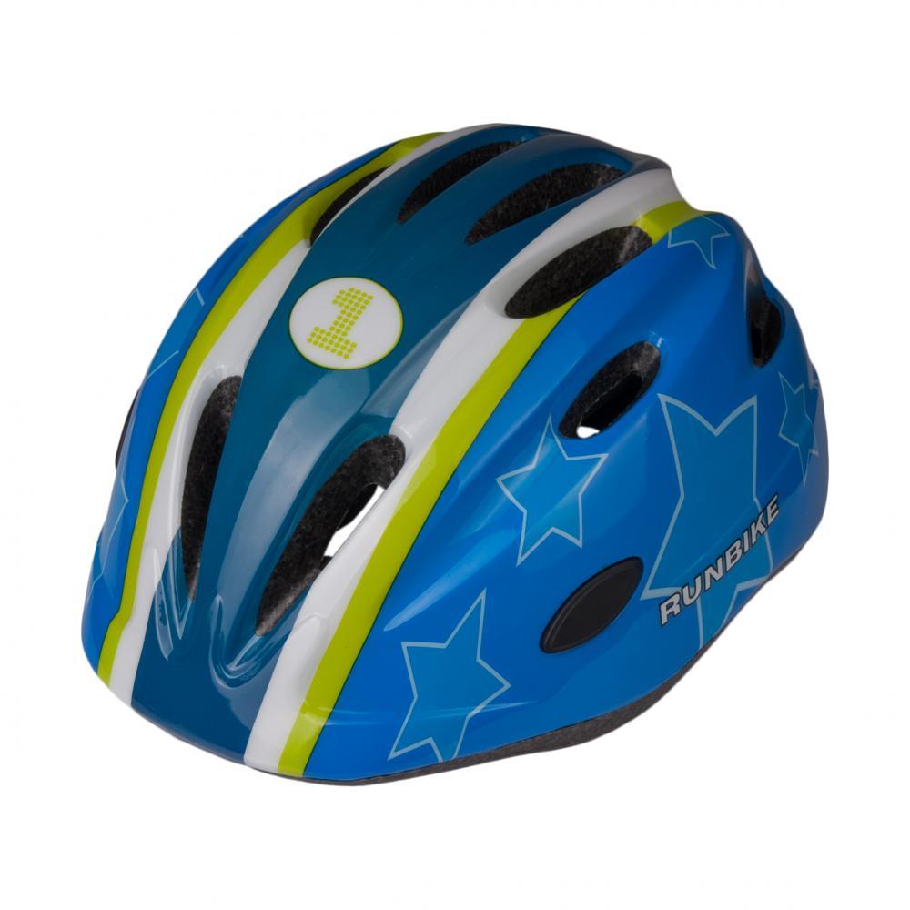RUNBIKE шлем сине-зеленый,  размер M (52-56 см)