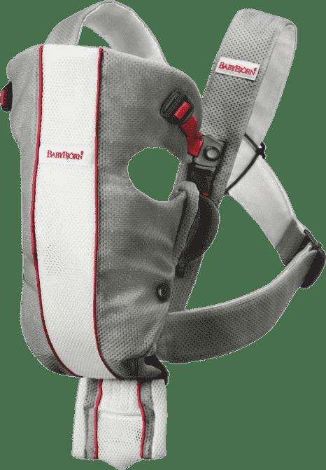 BABYBJORN рюкзак для переноски Original облегченный Mesh бело-серый