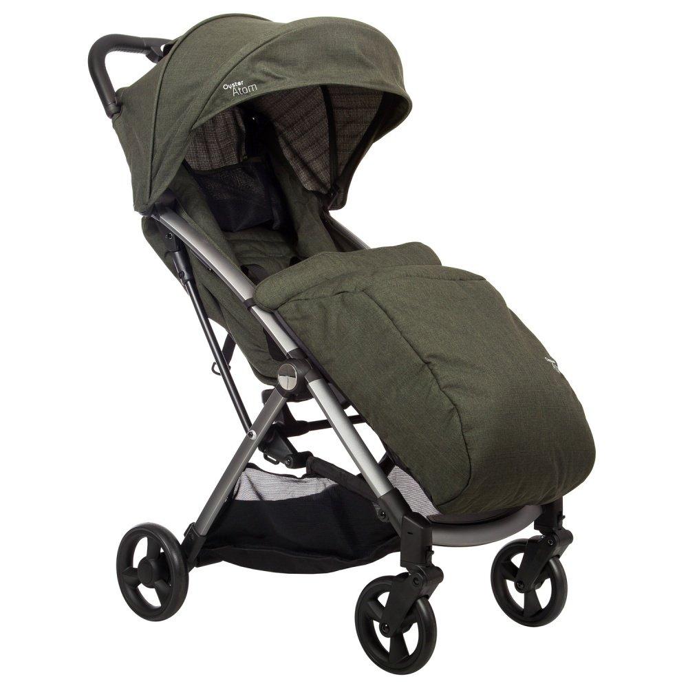 Купить Прогулочные коляски, OYSTER Прогулочная коляска Atom Olive Green с накидкой на ножки