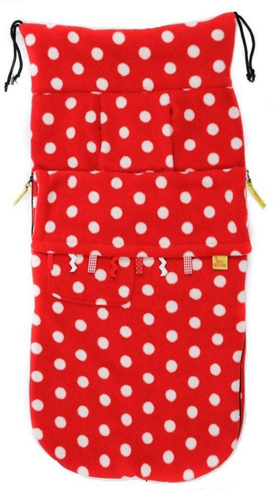 BUGGYSNUGGLE конверт для коляски флис Toggles Red/White Spot (весна-осень)