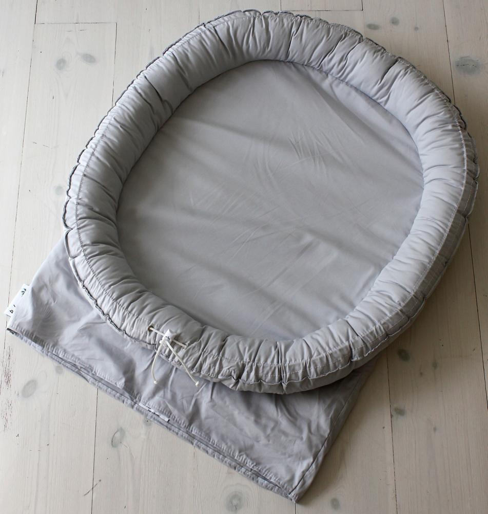 BABYNEST матрасик-кокон Twin lightgrey 75 х 68 см