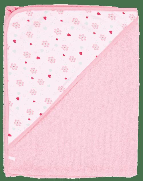 BEBE JOU полотенце с капюшоном нежно-розовый Птички певчие 3010 83