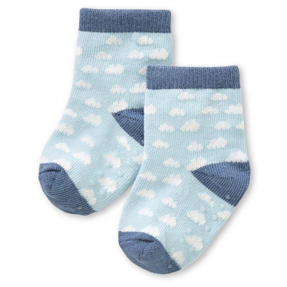HAPPYBABYDAYS Носочки, 1 пара, &quot,Дождик любви&quot,, трикотаж 6-12 мес., голубой (0551-3066-12 IRL)