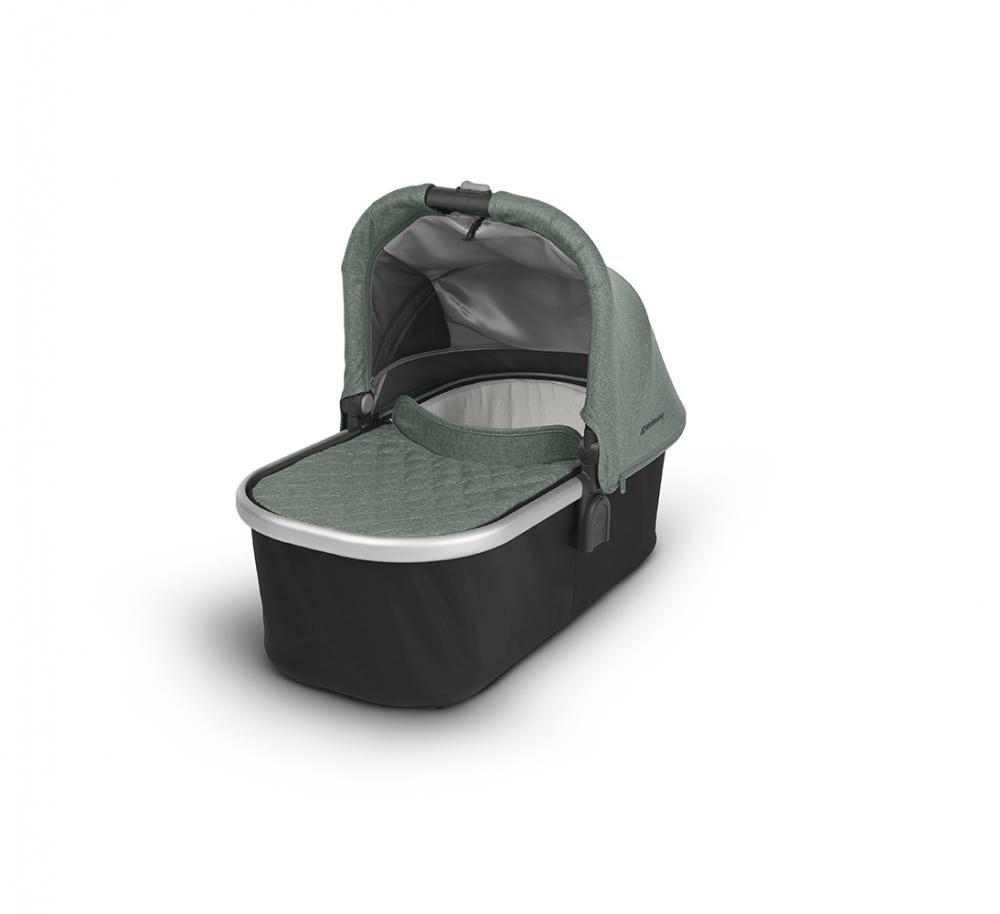 Купить Коляски для новорожденных, UPPABABY Люлька для коляски Cruz и Vista 2018 EMMETT (sage-army green melange) зеленый меланж