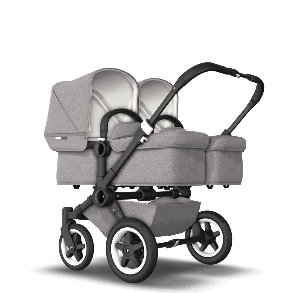 Bugaboo Donkey2 Коляска 2 в 1 для двойни TWIN Mineral LIGHT GREY/ BLACK