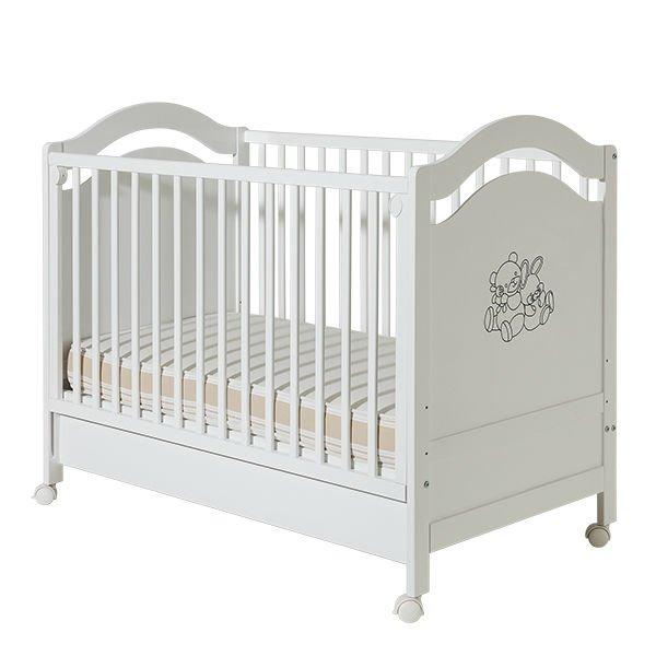 Детские кроватки и комоды BAMBINO обычная кроватка уренская мебельная фабрика мишутка 14 с ящиком темная