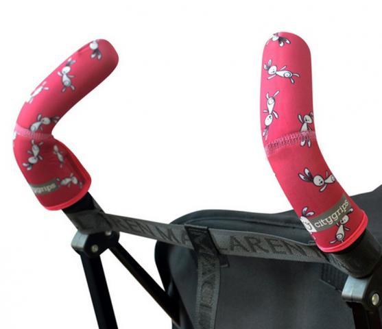 CityGrips Чехлы на ручки для коляски-трости Pink bunny - купить по приемлемым ценам в Москве в интернет магазине Олант