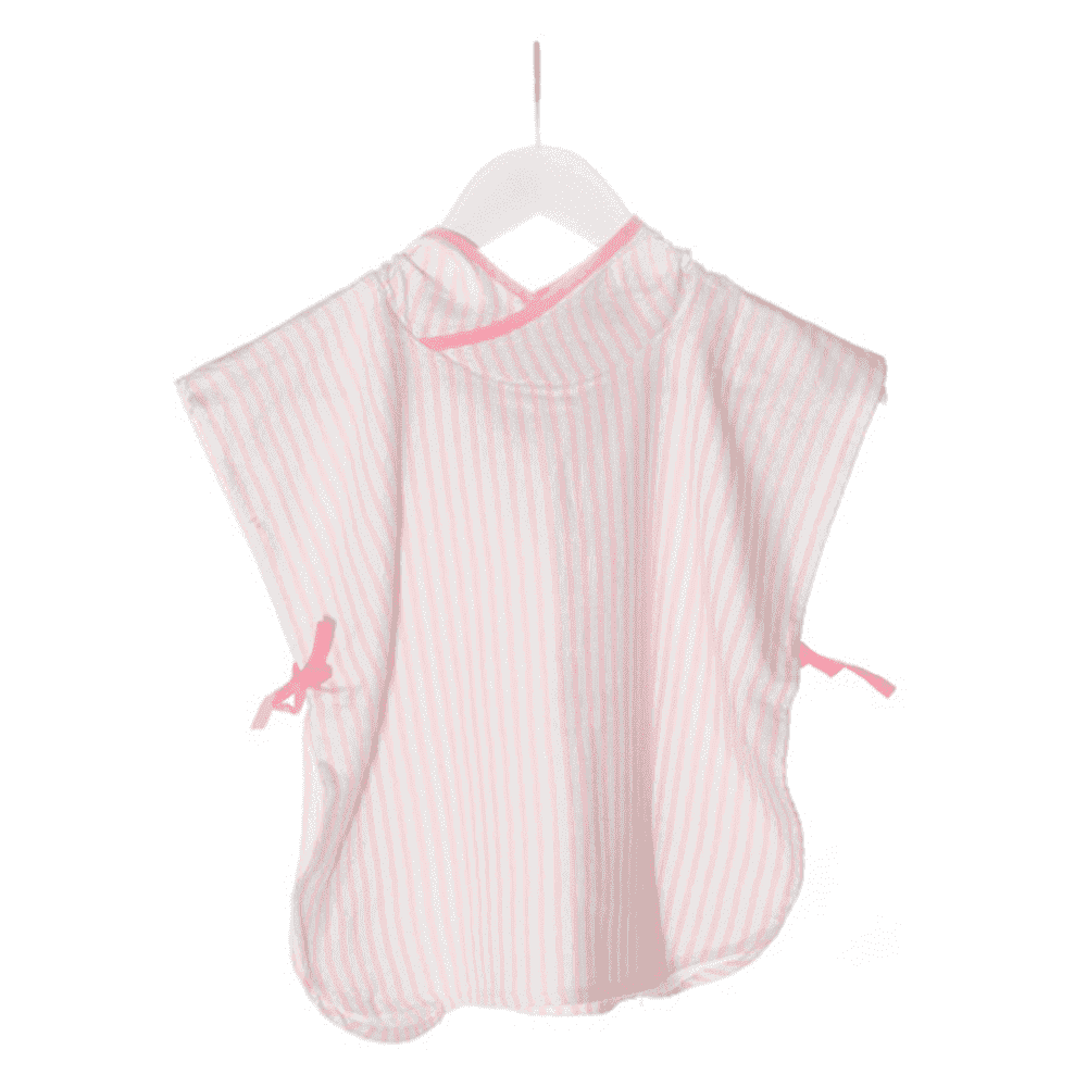 KIPKEP полотенце-пончо S  1-2года, нежно-розовый