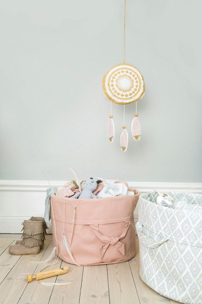 ELODIE DETAILS корзина-переноска для детских принадлежностей Powder Pink
