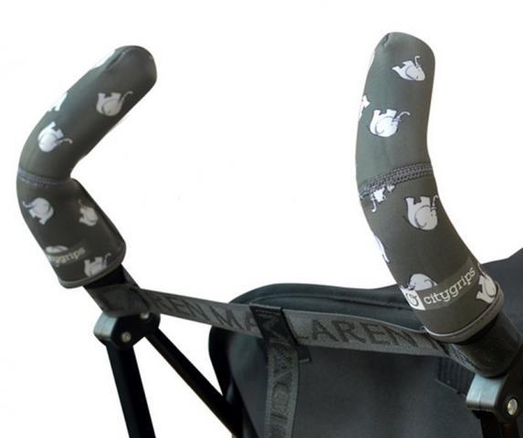 CityGrips Чехлы на ручки для коляски-трости  Grey elephant