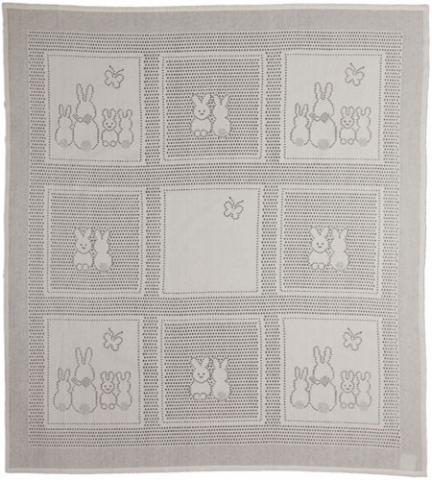 MYB плед Bunny Squares 76х102см слоновая кость (подарочная уп.) 831