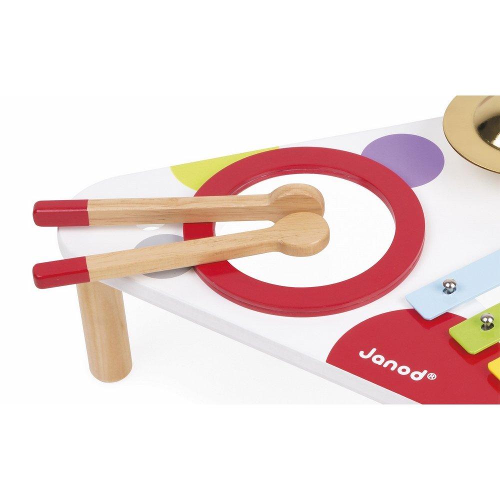Купить Деревянные игрушки, JANOD Стол музыкальный Конфетти