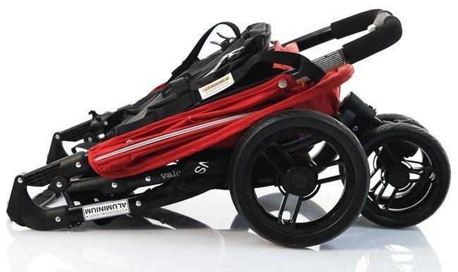 VALCO BABY Коляска прогулочная SNAP/ Carmine red черное шасси