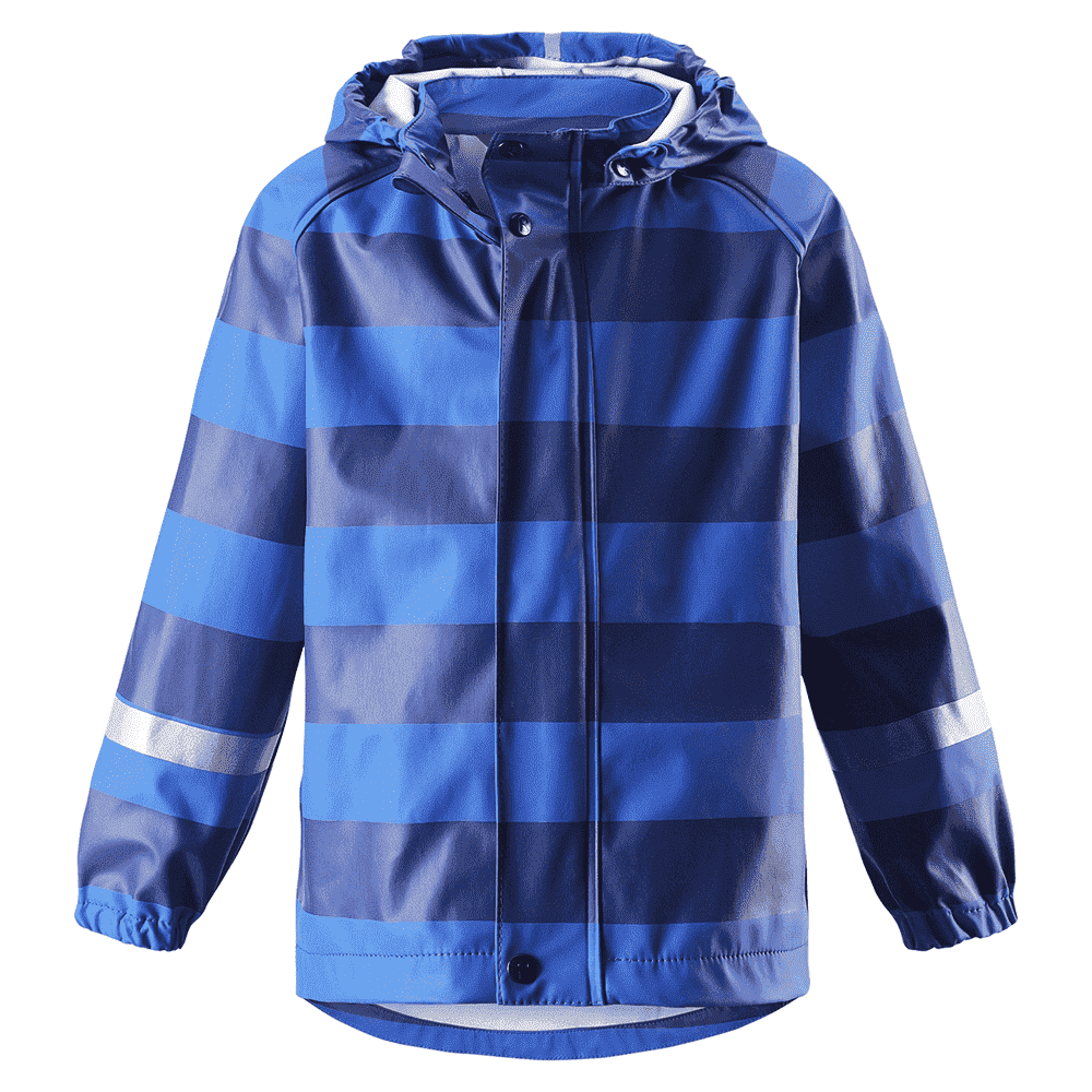REIMA куртка для дождливой погоды Vesi синяя в полоску р.86